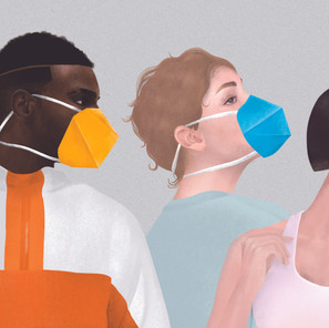 Oricool Facemask Prototypes. Illustrations by Christine Wang.