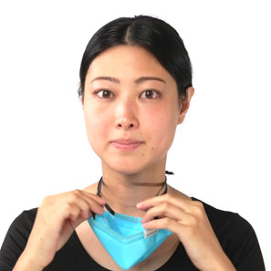 A Model Wearing Oricool Facemask