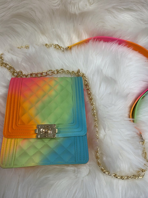 Rainbow Colored Handbag