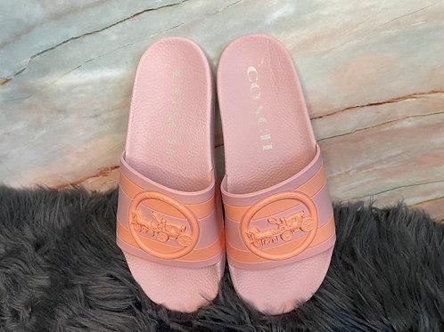 Coach Pink Slides Sandal