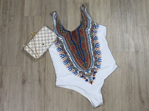 Curve Appeal Dashiki African Print 1pc Swimsuit
