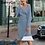 Thumbnail: BerryGo Sexy V-Neck Knittedress Women 2-Piece Batwing Sleeve Sweater Dress Midi