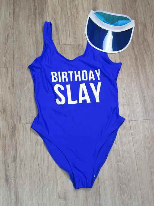 Birthday Slay Print One Piece Swimsuit