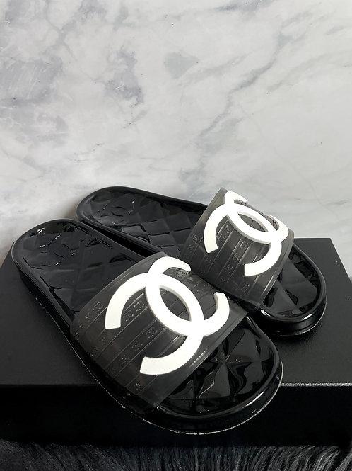 Chanel Jelly Slides
