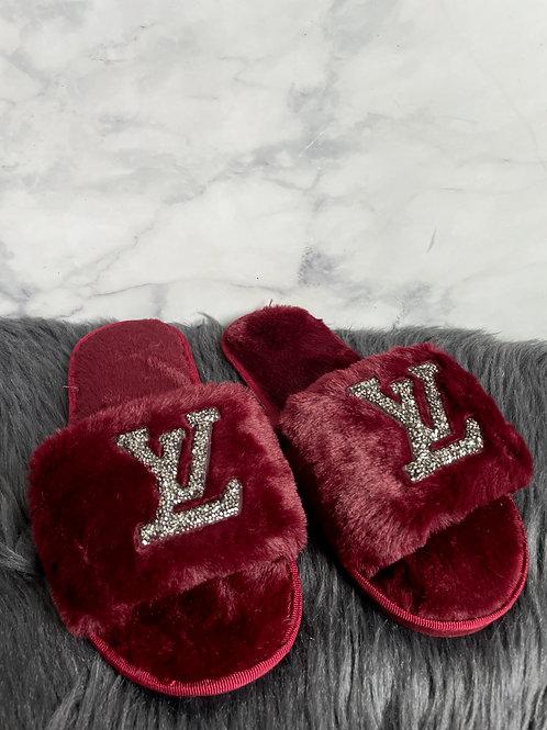 Louis Vuitton Fuzzy Slides