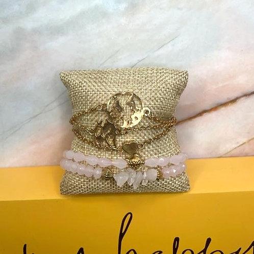 Pink Bracelet Set