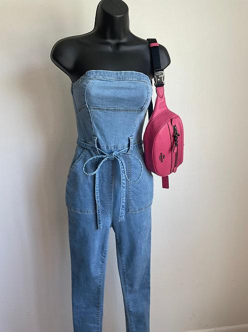 """Women""""s Denim Bodysuit"""