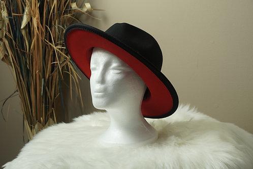 Black Red Fedora Hats