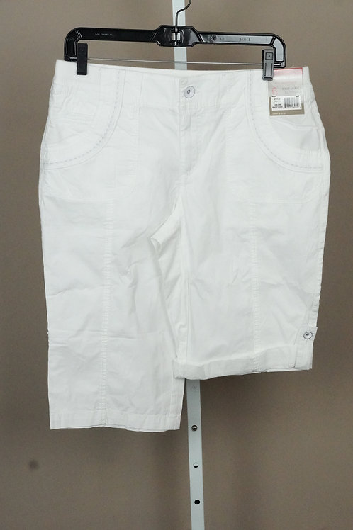 Women Bermuda Khaki Stretch Shorts