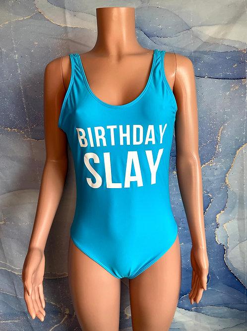Birthday Slay One Piece Bathing Suit