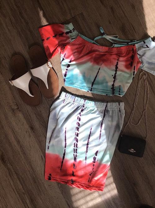 Summer Set 2-Pc Skirt Tie Dye