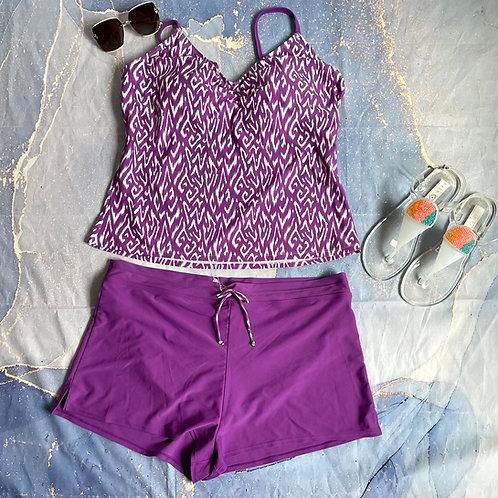 Purple Tankini Set