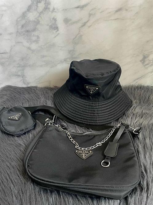 Prada Handbag and Hat Set