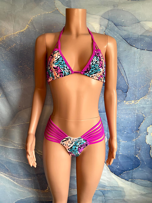 Colorful Print Bikini
