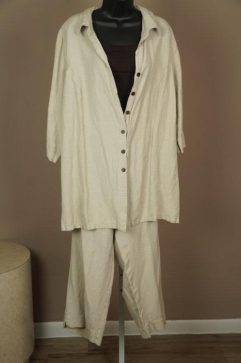 Avenue 2pc Linen Pants Set