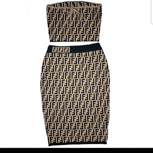 Fendi Fashion 2pc Skirt Set