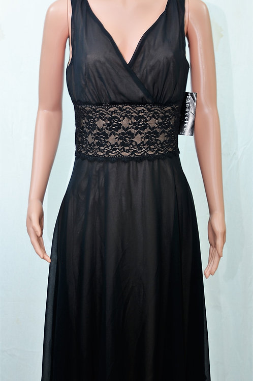 Connected Apparel Diasy Lace Over Chiffon Dress