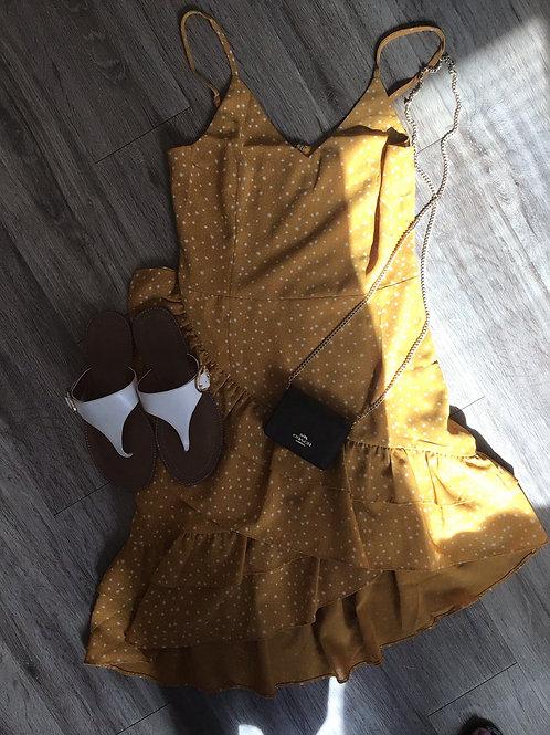 Poka Dot Sleeveless Dress
