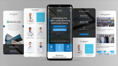 Mubadala Health - Mobile Application Screens