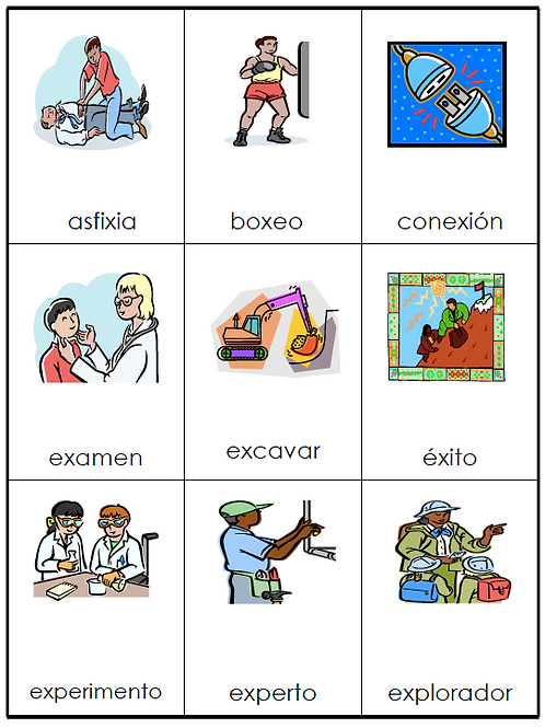 Bilingual Vocabulary Flashcards