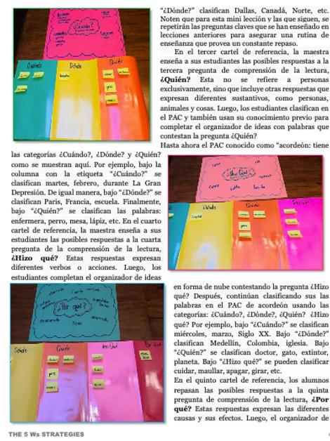 Las 5 preguntas: Manual para el docente