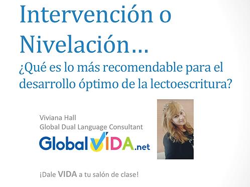 Intervención: Presentación