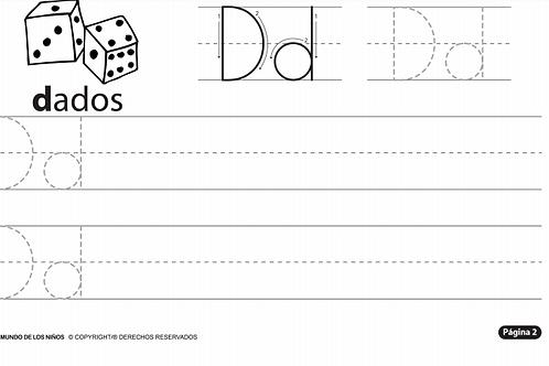 Cuadernillo de práctica de la Letra D