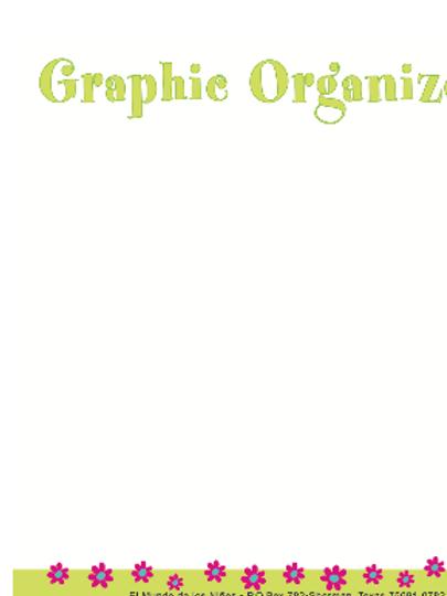 Mapa organizador/ Graphic organizer