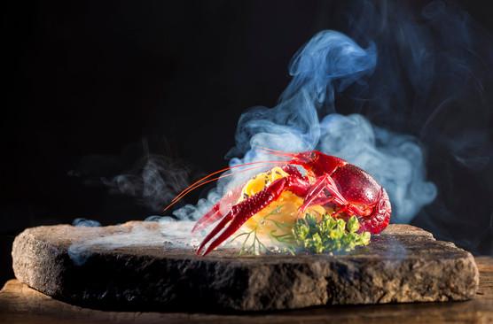 Flusskrebs geräuchert Food Fotografie
