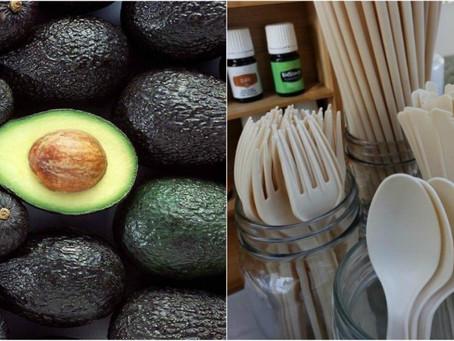 Compañía mexicana transforma semilla de aguacates en popotes y utensilios.