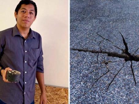 Joven mexicano crea pavimento que se regenera con agua