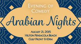 Pensacola Photo Booth brings you an Evening of Comedy - Covenant Hospice Aug 21st Hilton Pensacola