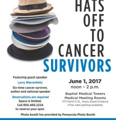 Hats Off to Cancer Survivors – June 1 Noon-2pm
