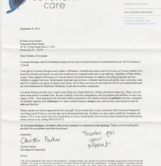 Covenant Hospice - Thank You!