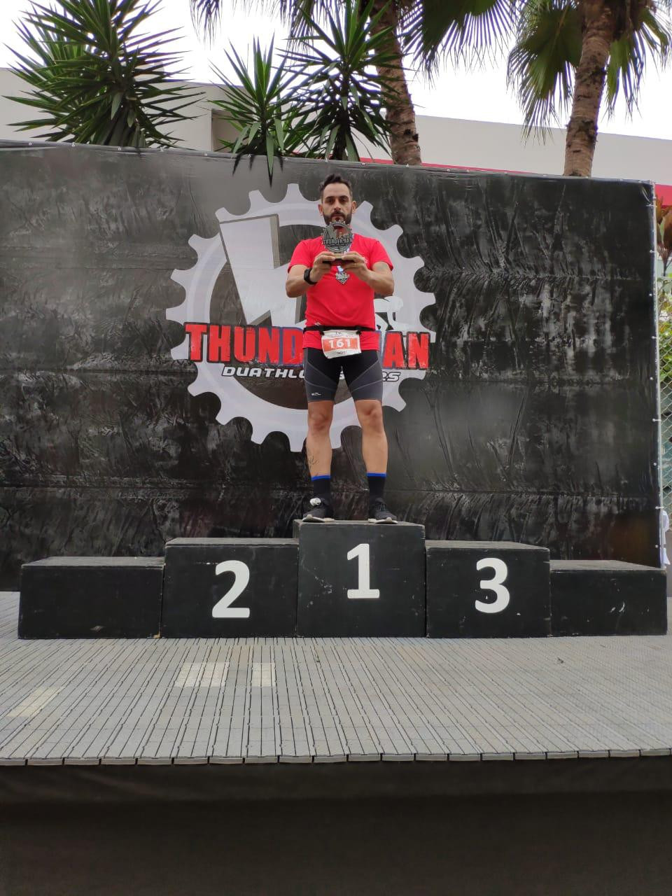 Thomy - pódio na Thunder Man Duathlon - Contra Tempo Running