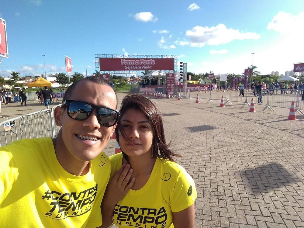 Maurílio e Natalia - Contra Tempo Running - Corrida Farma Ponte de Natal