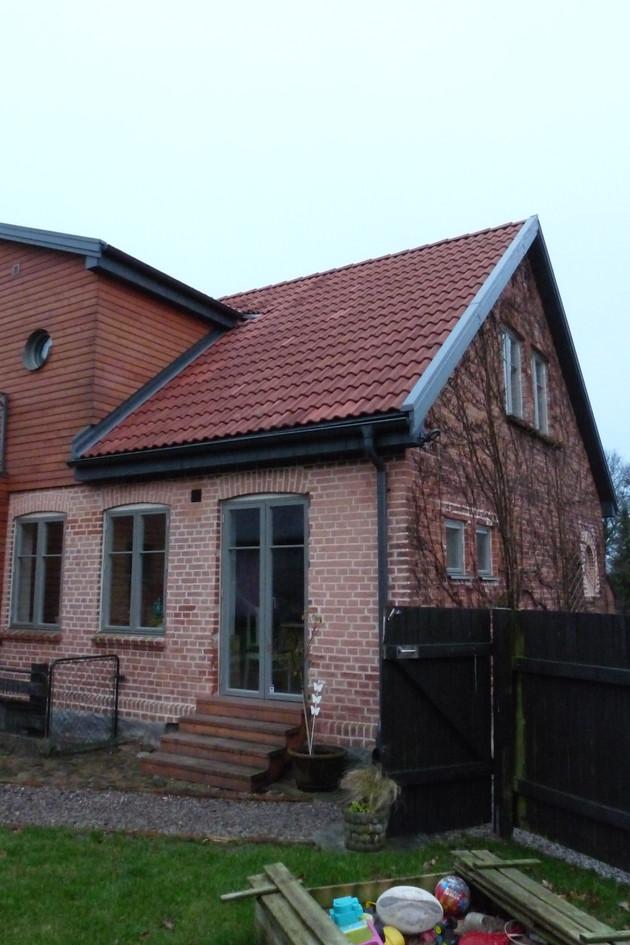Billeberga- Bostadsombyggnad- Gavel pch del av fasad mot gården -2018