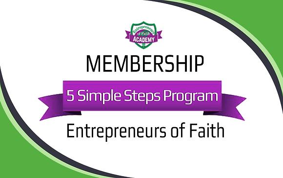 Entrepreneurs of Faith - 5 Steps Annual