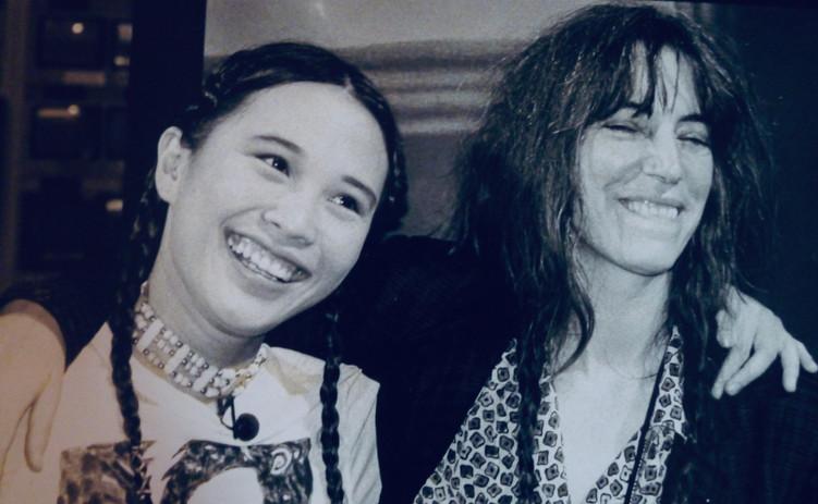 With Patti Smith