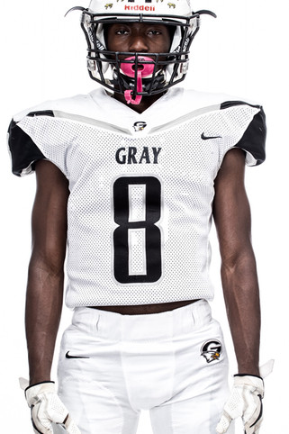 Gray Collegiate Academy Football Player