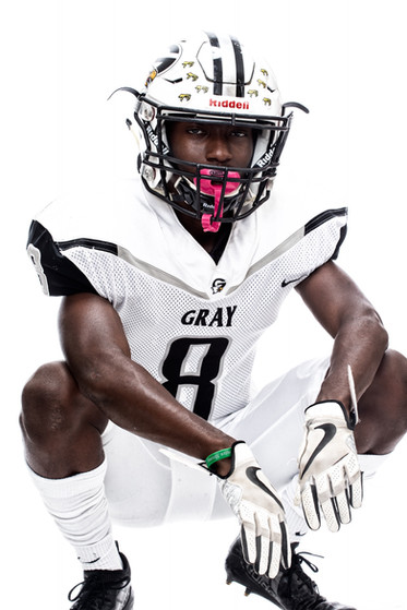 Gray Collegiate Academy Football Player