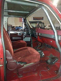 Custom built Internal Rollcage inside a Chevy K5 Blazer done at Flex Point Off Road in Redding California