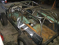 Custom Internal Rollcage built into a Jeep Cherokee built at Flex Point Off Road in Redding California