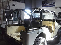 Custom Internal Roll Cage built on this 66 Jeep CJ at Flex Point Off Road in Redding California