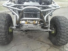Custom Roll Cage and Front end done on a Suzuki Samuri at Flex Point Off Road in Redding California