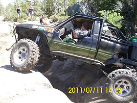 Custom Toyota 1st Gen Rock Cralwer on the Rubicon built by Flex Point Off Road in Redding California