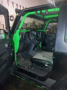 Posin Spyder Internal Roll Cage installed into a Jeep at Flex Point Off Road in Redding California