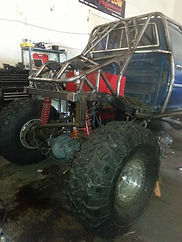 Custom Built 94 Toyota Pickup Truck with 1tons and 42 Pitbull Tires built at Flex Point Off Road in Redding California