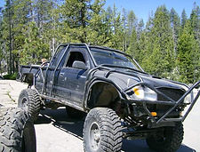 Custom Roll Cage built on a Toyota Tundra built by Flex Point Off Road in Redding California