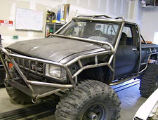 Custom Roll Cage built on a 1st Gen Toyota Pickup Truck by Flex Point Off Road in Redding California
